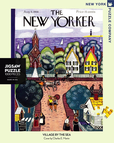 The New Yorker 1000 Piece Jigsaw Puzzle  - Village by Sea
