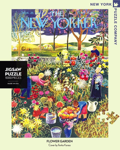 The New Yorker 1000 Piece Jigsaw Puzzle - Flower Garden