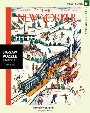 The New Yorker 1000 Piece Jigsaw Puzzle  - Winter Weekend