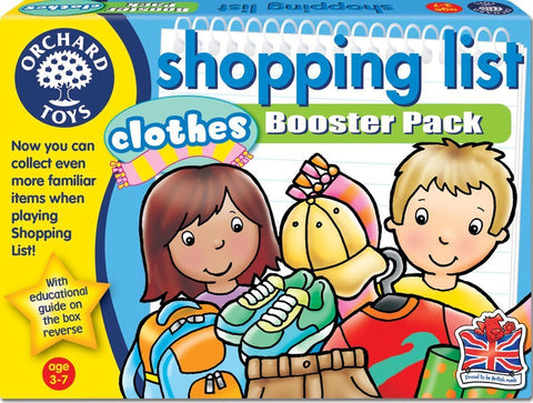 Shopping List Booster Pack - Clothes