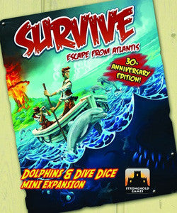 Survive: Escape From Atlantis! - Dolphins & Dive Dice Mini-Expansion