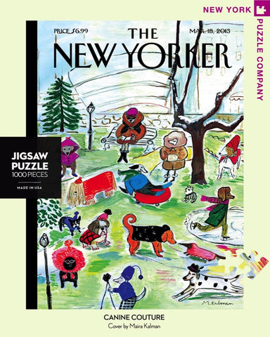 The New Yorker 1000 Piece Jigsaw Puzzle - Canine Couture