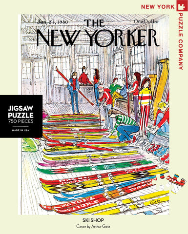 The New Yorker 750 Piece Jigsaw Puzzle  - Ski Shop
