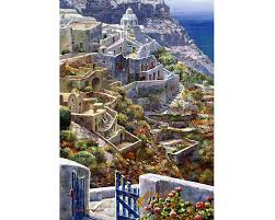 Wentworth Wooden Puzzle - Above Santorini 40pc