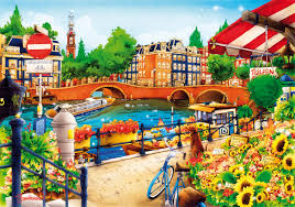 Wentworth Wooden Puzzle - Amsterdam 40pc