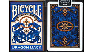 Bicycle Dragon Back Blue Playing Cards