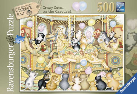 Ravensburger 500 Piece Jigsaw - Crazy Cats on the Carousel