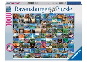 Ravensburger 1000pc Jigsaw - 99 Most Beautiful Places
