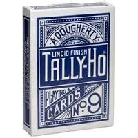 Tally-Ho Circle Back Titanium Blue Playing Cards