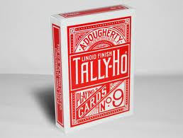 Tally-Ho Circle Back Titanium Red Playing Cards