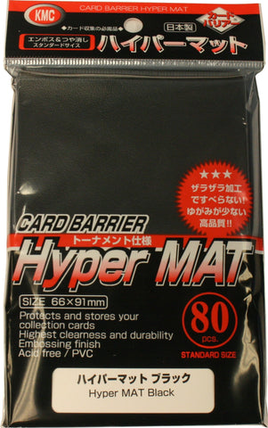 KMC Hyper Mat Sleeves - Black