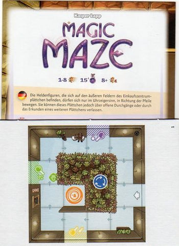 Magic Maze Promo 2017 - English Rules Included