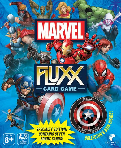 Marvel Fluxx includes Collectors Coin