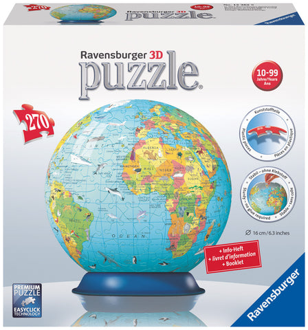 Ravensburger 540 Piece Puzzle - 3D World Globe