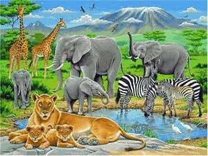 Ravensburger 200 Piece Jigsaw - Animals in Africa