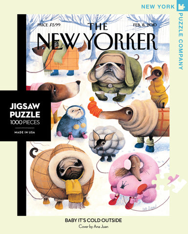 The New Yorker 1000 Piece Jigsaw Puzzle - Baby It's Cold Outside