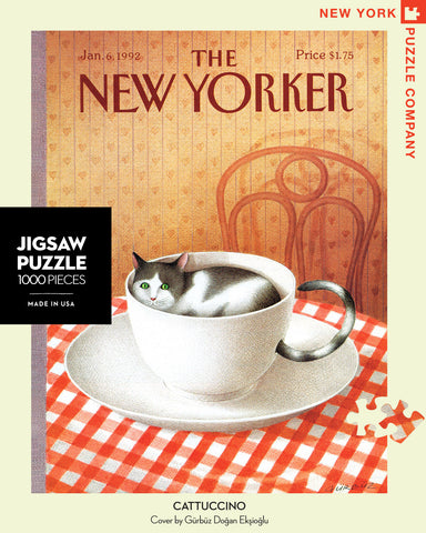 The New Yorker 1000 Piece Jigsaw Puzzle - Cattuccino