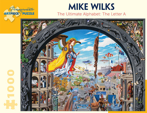 Mike Wilks: The Ultimate Alphabet: The Letter A 1000-piece Jigsaw Puzzle
