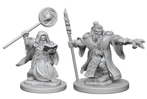 Dungeons & Dragons: Nolzur's Marvelous Unpainted Miniatures - Dwarf Male Wizards
