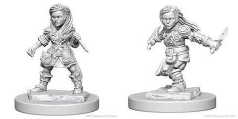 Dungeons & Dragons: Nolzur's Marvelous Unpainted Miniatures - Halfling Female Rogues