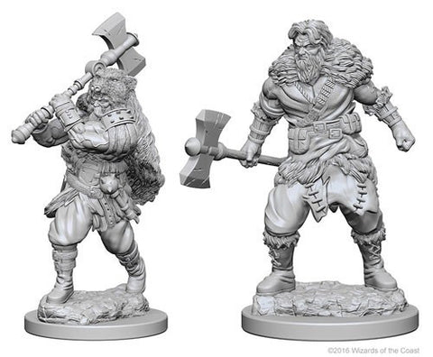 Dungeons & Dragons: Nolzur's Marvelous Unpainted Miniatures - Human Male Barbarians