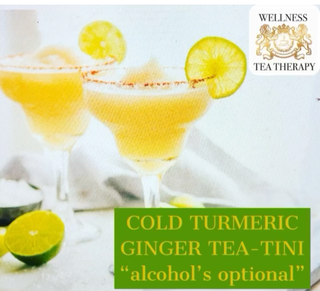 Summer FUN Turmeric Ginger Tea-tini