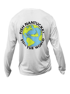 Fish Nantucket ~ Fish the World Performance Long Sleeve Shirt