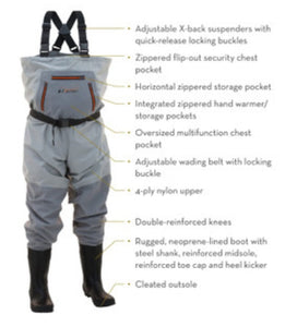 Frogg Toggs Hellbender Cleated Bootfoot Chest Waders