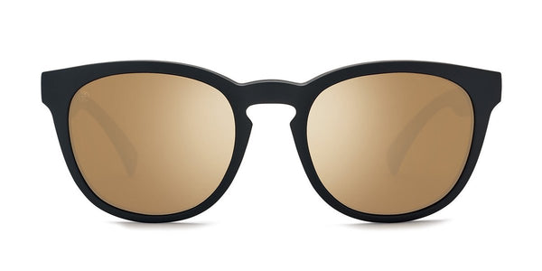 Kaenon Strand Matte Black with Polarized Gold Mirror Lens