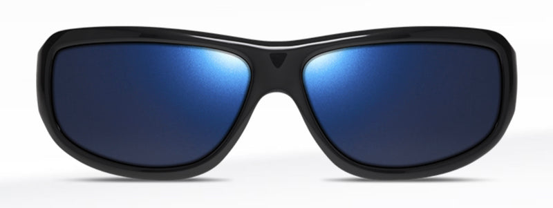 Dillon Smoke Shiny Black with Polarized Blue NIR Lens SQ