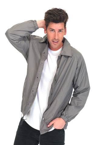 COACHS JACKET-GREY