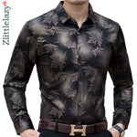 Long Sleeve Maple Leaf Designer Shirt Slim Fit