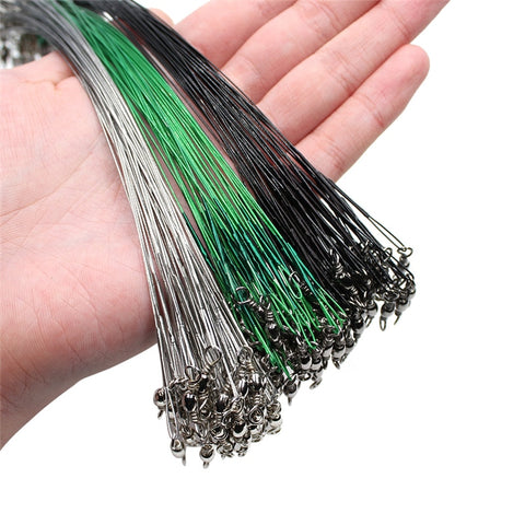 20PCS Anti Bite Steel Fishing Line