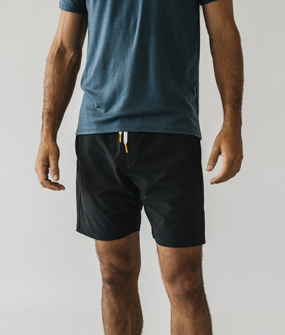 Black Plain Shorts