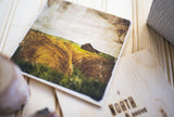 "CLEARANCE Matte Print on Wood <br> Alberta Prairies<br> 5x5"" Baltic Birch"