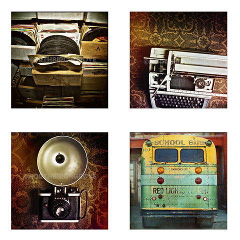 Metallic Mini Magnet Set of 4 <br> Vintage Vibes