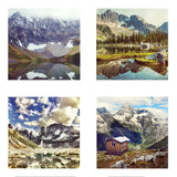 Metallic Mini Magnet Set of 4 <br> Canadian Mountains No. 2