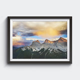 Three Sisters Mountains <br> Canmore Alta <br>Limited Edition Archival<br> Fine Art Chromogenic Print