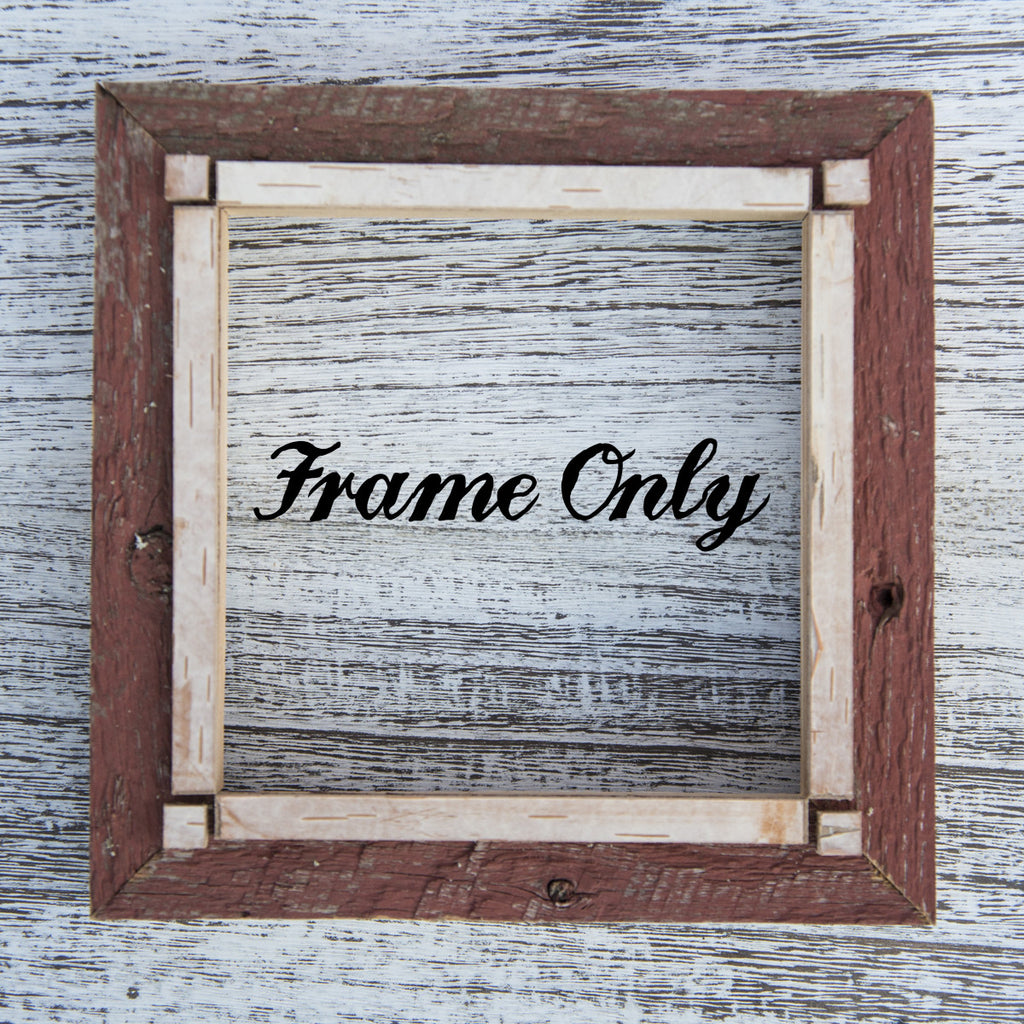"SALE<br> Salvaged Wood Frame<br>Choice of w or w/out a 5"" Print"