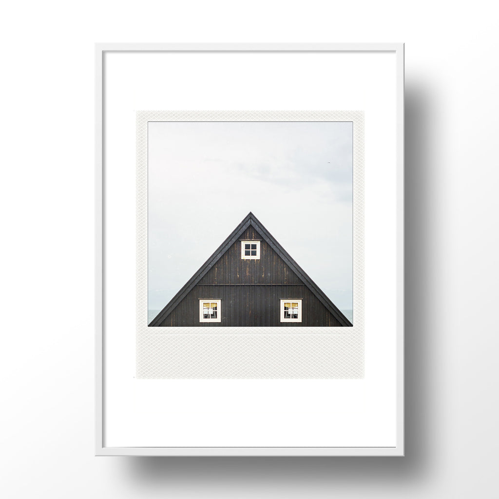 CLEARANCE<br> Metallic Polaroid Magnet <br> Icelandic Cabin