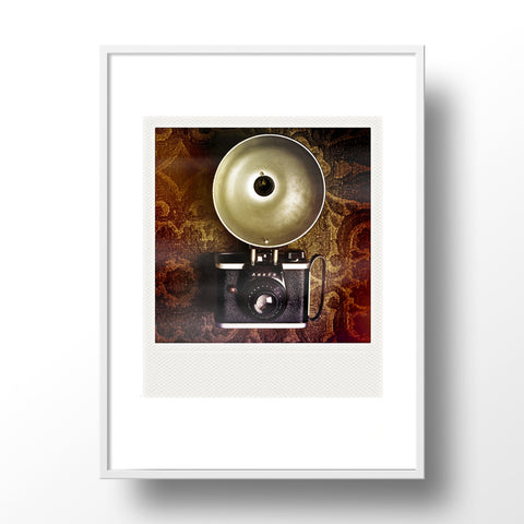 CLEARANCE<br> Metallic Polaroid Magnet <br> Vintage Camera