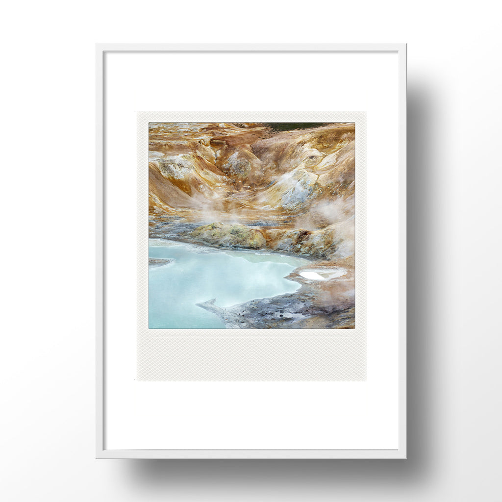 Discontinued <br>Metallic Polaroid Magnet <br> Iceland Landscape
