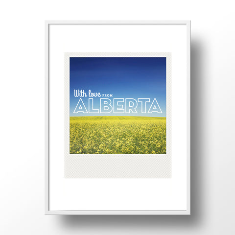 SALE<br> Metallic Polaroid Magnet <br> With Love From Alberta Canola Field
