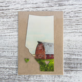 CLEARANCE <br>Alberta Love Magnet <br> Red Barn