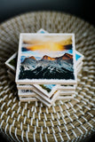 "Aspen Trees in Autumn Kananaskis Canadian Rockies <br>Birch Wood Photo Coaster <br> 4x4"" Matte Finish"