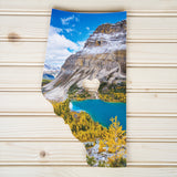 Alberta Province 2 Styles<br> Banff National Park<br> Photo on Birch Wood Panel<br>