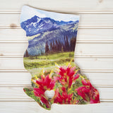 British Columbia Province <br> Dreamy Wildflowers<br> Photo on Birch Wood Panel <br>