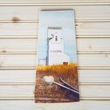 CLEARANCE <br>Saskatchewan Province<br> Flaxcombe Elevator <br>Photo on Birch Wood Panel <br>