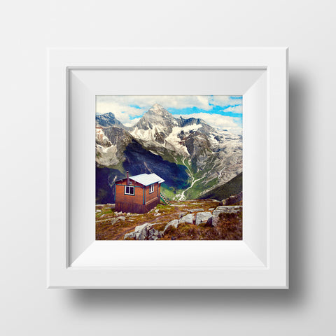 CLEARANCE Print<br> British Columbia Mountain Hut<br> Various Finishes + Sizes