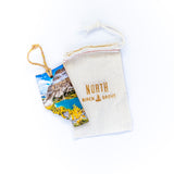 Alberta Wooden Holiday Ornament <br> Canmore Alberta Canada <br> Snowy Aspens